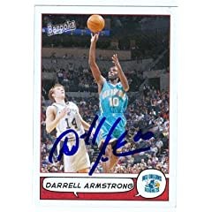 Darrell Armstrong Autographed Hand Signed Basketball Card (New Orleans Hornets) 2005...