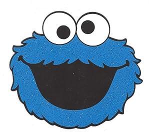 cookie monster head sesame street blue furry monster iron on transfer for t shirt