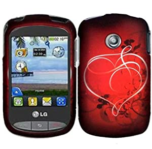 Hard Pretty Heart Case Cover Faceplate Protector for LG 800G TracFone