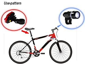 Click Here For Cheap Amazon.com: High Quality Waterproof Led Bike Bicycle Head Light + Rear Flashlight: Sports & Outdoors For Sale