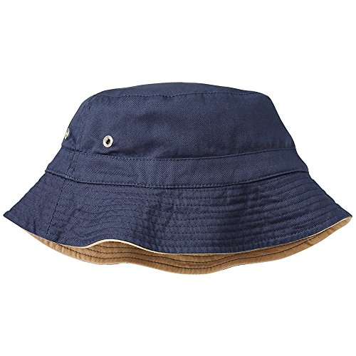 Hanna Andersson Little Boy Reversible Bucket Hat, Size M (2-6 Years), Sandstone