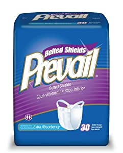 Prevail Premium Belted Undergarment, Extra Absorbency, 30 Undergarments (Pack of 4) by Prevail