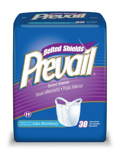 Prevail Premium Belted Undergarment, Extra Absorbency, 30 Undergarments (Pack of 4)