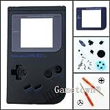 Gametown® Full Housing Shell Cover Case Pack with Screwdriver for Nintendo Gameboy Classic/Original GB DMG-01 Repair Part-Black
