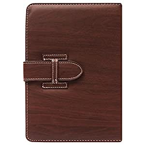 DMG Protective 7in Flip Book Cover Case for Lenovo A3300/A7-30 (Brown) + Black Stereo Earphone with Mic and Volume Control