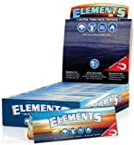 25 ELEMENTS THIN ROLLING PAPER- 1 1/4 SIZE BOX OF 25PK 1.25