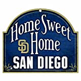 """MLB San Diego Padres 11-by-9 Wood """"Home Sweet Home"""" Sign"""