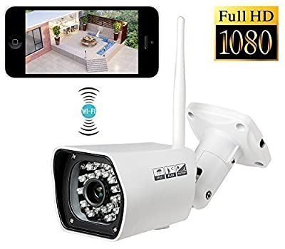 Bullet Camera, UOKOO Home Surveillance Indoor /Outdoor Cloud IP Camera , IP Camera Weatherproof Surveillance Network Camera With HD Night Vision 720P Outdoor Waterproof Bullet IP Camera