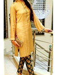 1 Stop Fashion Cream Semi Stitched Cotton Jacquard Straight Cut Salwar Suit
