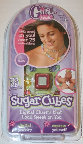 Girl Tech Sugar Cubes Red Digital Charm by Mattel - 1