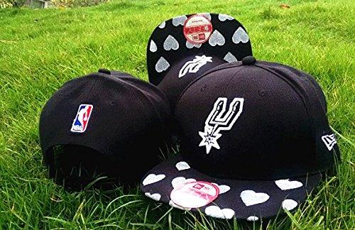 [Fashion Game Time Closer Stretch San Antonio Spurs Team Logo Black Adjustable Hat] (Wigs Hobart)