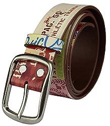 Heepliday Men's Super Star Cool Leather Belt Medium (32-34) Colorful