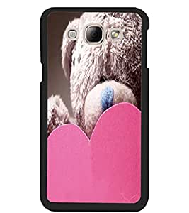 ColourCraft Teddy and Heart Design Back Case Cover for SAMSUNG GALAXY A8