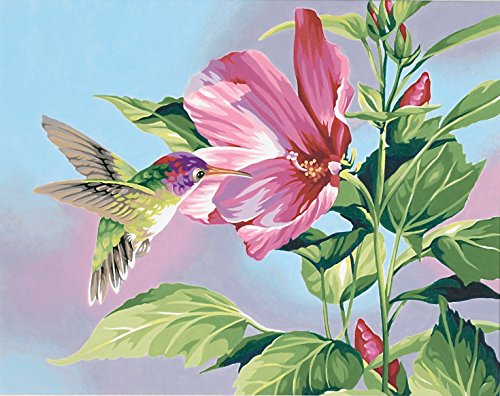 Dimensions Needlecrafts Paintworks Paint By Number, Hibiscus Hummingbird - 1