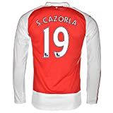 Puma S. Cazorla #19 Arsenal Home Jersey 2015-16 Long Sleeve(Authentic name and number of player)/サッカーユニフォーム ア-セナルFC ホーム用 長袖 S. カソルラ 背番号19 (Medium)