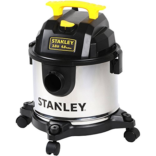 Stanely 4-Gallon Stainless Steel Wet/Dry Vacuum, SL18301-4B (Quiet Handheld Vacuum compare prices)