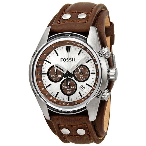 Buy Fossil Men's CH2565 Cuff Chronograph Tan Leather Watch ...