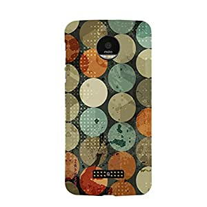 iSweven MOTOZF_1195 Printed high Quality Green_and_oriange_pattern Design Back case cover for Motorola Moto Z Force