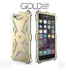 iPhone 6s plus Case, CAPY Thor Aluminum Case For Samsung iPhone 6s plusMetal Phone Cases (1-Pack Gold)