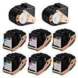 Doitwiser ® Compatible Toner Cartridges 2 Set Black Cyan Magenta Yellow For Xerox Phaser 7100 7100N 7100DN - 106R02605 106R02599 106R02600 106R02601 - Black Yield 5,000 Pages - Colour Yield 4,500 Pages (8 Pack)