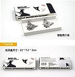 Ninja Shuriken Magnet, Metal-black and Silver (silver)