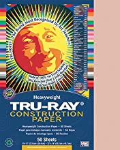 Tru Ray Construction Paper 76 Lbs 9 X 12 Salmon 50 Sheets Pack Pac103