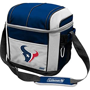 NFL Houston Texans 24 Can Soft Sided Carry Coleman Cooler by Licensed Products