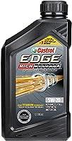 Castrol 06122 EDGE High Mileage Black ILSAC GF-5, API SN, ACEA A1, ACEA B1 5W20 Synthetic Motor Oil, 1 quart by Castrol