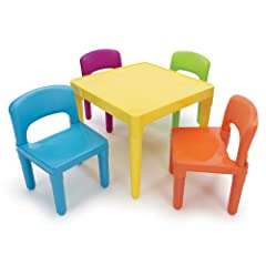 Tot Tutors Kids Table and 4-Chair Set Plastic
