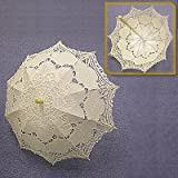 BEIYI® I1003 Beauty Handmade Lace Parasol For Wedding White/Ivory/Pink/Black (Ivory)