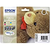 Epson T0615 Multipack d'origine T061 Cartouche Noire + 3 couleurs pour D68 88 88PE DX3850 4250 4850