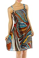 Bright Silky Smooth Smocked Bodice Sun Dress - Assorted Colors
