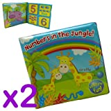 Jungle Travel Baby bath Time Book Toy Bath Time Fun For Babies Pack of 2 Jungle Book Design