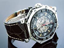 Aqua Master 45mm Skeleton Automatic 1.00 Ct Diamond Black Face Watch