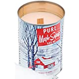 Maple Syrup Candle with a Crackling Wooden Wick. Natural Soy Wax Candles. Burns Clean, Even, and True-to-scent for Hours 540ml