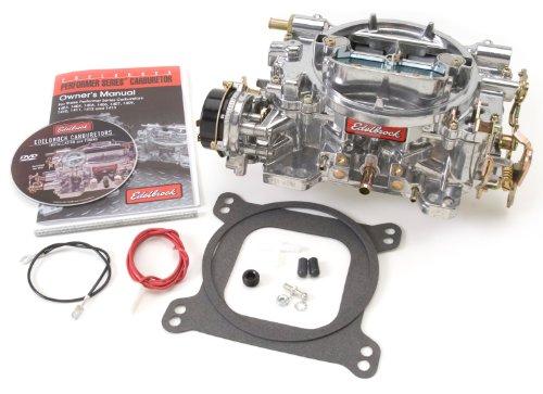 Edelbrock 1411 Performer 750 CFM Square Bore 4-Barrel Air Valve Secondary Electric Choke New Carburetor (Carburetor 350 Cfm compare prices)