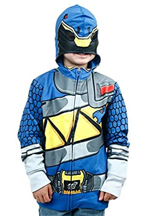 Freeze Kids boys Power Rangers Dino Charge Blue Ranger Costume Hoodie
