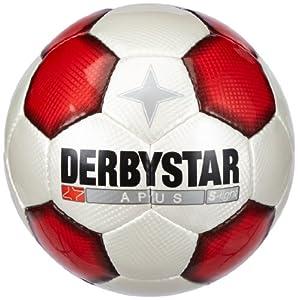 Derbystar Fussball Apus Super Light, Weiss/Rot/Schwarz, 5, 1219500132