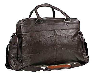 Mens Leather Holdall Luxury Travel Bag Gym Sports Bag Ladies Flight Bag Cabin Bag Weekend Bag In Brown