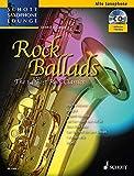 Image de Rock Ballads: The 14 Best Rock Classics. Alt-Saxophon und Klavier. Ausgabe mit CD. (Schott Saxophone
