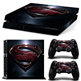 ZOOMHITSKINS PS4 Skin Decal Sticker Superman Custom Design + 2 Controller Skins Set