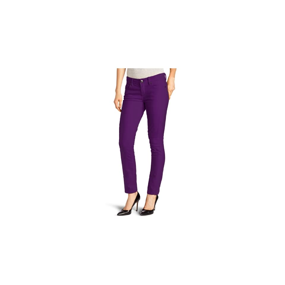 Isaac Mizrahi Womens Samantha Skinny Corduroy, Grape Royal, 2