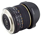 Rokinon FE8M-C 8mm F3.5 Fisheye Lens for Canon - Black