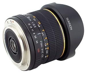 Rokinon FE8M-C 8mm F3.5 Fisheye Lens for Canon - Black