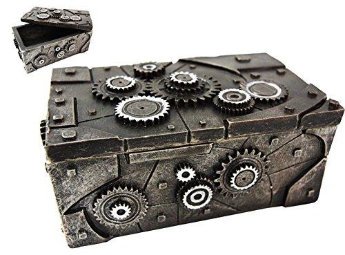 Steampunk Painted Gear Clockwork Decorative Jewelry Box Figurine