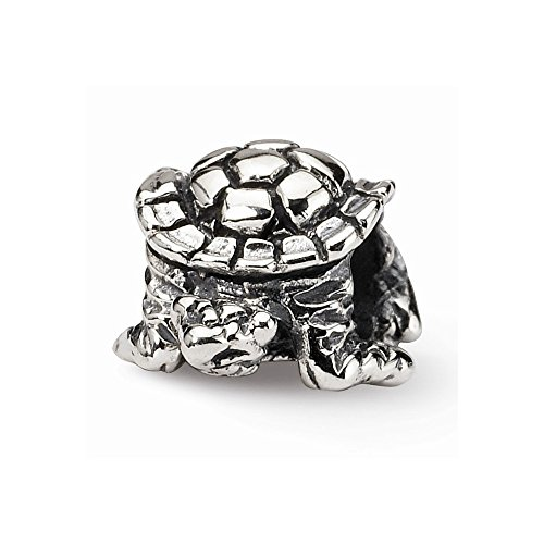 Sterling Silver Turtle Bead Charm For Pandora, Biagi, Chamilia & European Bracelets, Charms For Women