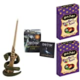 Harry Potter Voldemort's Wand with Sticker Kit: Lights Up! and 2 - 1.2 oz Boxes of Jelly Belly Harry Potter Bertie Bott's Every Flavour Beans Gift Set