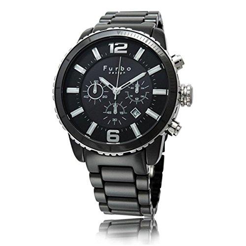 (フルボデザイン)Furbo Design 腕時計 イル・ソーレ ソーラークロノグラフ ブラックセラミック ブラックダイアル メンズサイズ [並行輸入品]