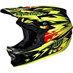 Troy Lee Designs Thunder CF D3 Carbon Bike Race BMX Helmet - Yellow / X-Large