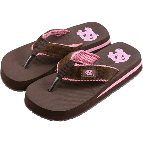 Cheap North Carolina Tar Heels (UNC) Two Tone Ladies Suede Flip Flops (B000RUT7OS)